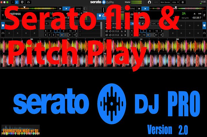 Serato DJ Pro Flip Pitch play