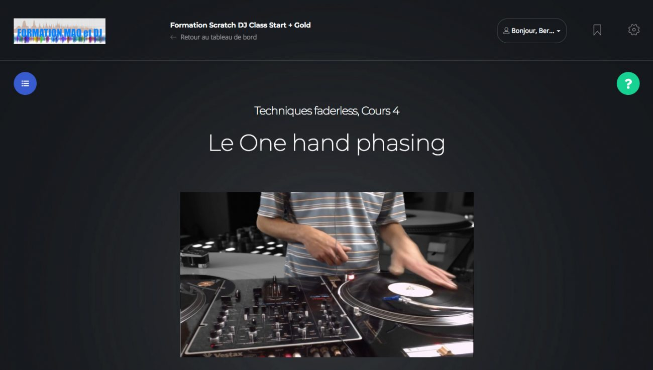 one hand phasing scratch