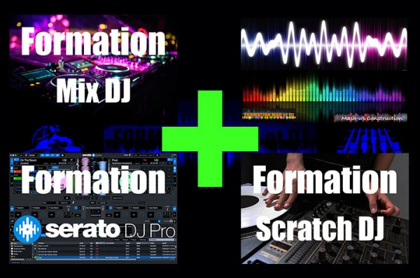 formation mix dj + serato dj pro + mashup + scratch